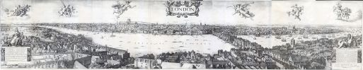 Long View of London from Bankside by Wenceslaus Hollar, 1647