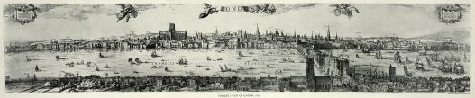 A Panorama of London by Claes Van Visscher, 1616